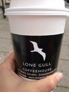 latte from the Lone Gull in Gloucester - love me some post-race coffee