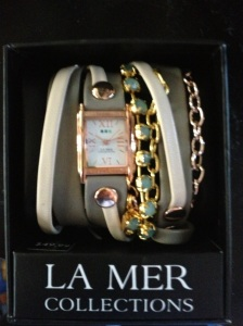 La Mer watch I bought myself for my birthday. So cute & from Target!!! Can't wait to wear it to work.